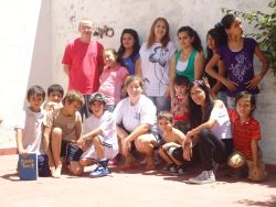 Kids and leaders of the Escuelita Bible club