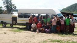 ´The Africa Trek 2011´with their van in Mpulungu, Zambia.