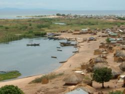 The fishermen village of Chipwa in Lake Tangayika, Zambia
