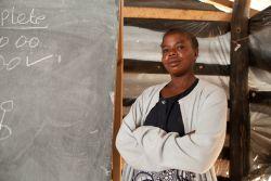 Portrait of Phoebe, a teacher in Makwati School, Kabwe, Zambia