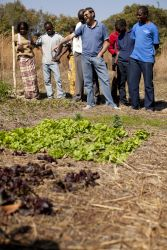 OM Zambia staff member Andre Van Zyl teaches a Farming Gods Way course.