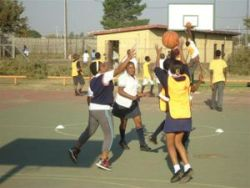 SportsLink begins an after-school basketball program for high school students in Mamelodi.