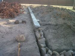 The foundation of a classroom at the new OM Malawi Ministry Centre.