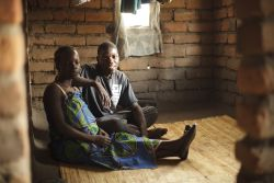 OM Malawi staff member Rodney and his wife Joyce in their bedroom.