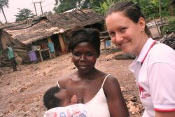 Slovak missionary Lenko Slovodova served with OM for a year in Ghana, helping rural children.