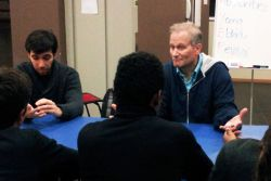 OMer Richard Sharp teaches evangelism methods at a youth camp in Porto, Portugal