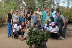 The Africa Trek team in Ntaja, Malawi