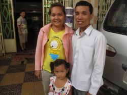 Koem Vannak (31) and his family are preparing to leave for Logos Hope this month. They will be the second missionaries to be sent out since OM Cambodia started in 2006.