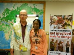 Angela of Zambia and OMs George Verwer