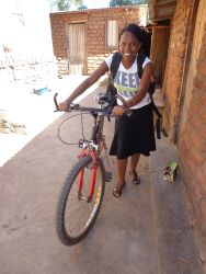 Yollanda Mamvura cycled to reach distant villages and schools.