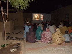 Movie-going Pakistani-village style
