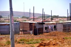 Mamelodi, South Africa :: Corrugated metal shacks make up the houses in the community known as Extension Six