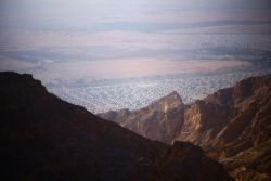View from the mountains in the Arabian Peninsula.   Photo by Andrew W.