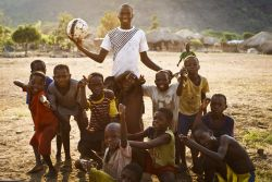Sunday, one of the Honest Boys, with a soccer team created by the just one ball approach.