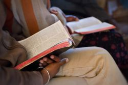 A Malagasy Bible study.