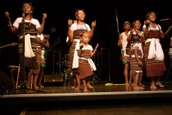 Toamasina, Madagascar :: Local dancers perform at an onboard event in the Hope Theatre Hope to Androy to raise awareness of the countrys need in the South.