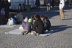 Refugees in Sid, Serbia