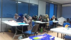 Spanish classes for immigrants in Fuenlabrada, Spain.