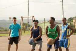 Durban, South Africa :: Inner city boys playing Chase - a basketball game.