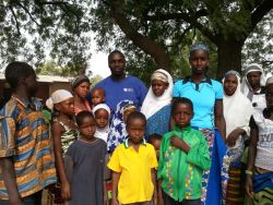 Chris with group of Fulani people