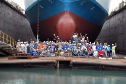 Durban, South Africa :: The team who took part in the 2016 dry dock in Durban, South Africa.