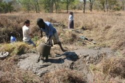 An outreach team to a least reached community dug a well for a least reached people group