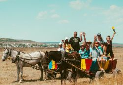 An OM Moldova outreach team travelling from village to village by horse and cart - Moldova?s traditional and still widely-used mode of transport. OM Moldova is led by nationals and uses a variety of ministries and creative approaches to meet the country?s severe needs and to equip their believing fellow citizens to reach their communities, their nation and the world.