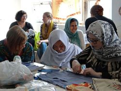 OM women attending a short-term missions forum in Budapest, Hungary, visited a refugee center for a day of outreach. The OMers led a sewing craft and worship songs, shared a testimony, served lunch, and spent time hearing the stories of the refugee women and children.