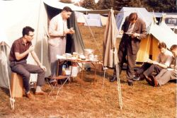 Gerry Davey and others at one of the Summer conferences at Lamorlaye, France, in the sixties.