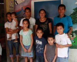 Gloria Elizabeth with her family, in El Espino, El Salvador