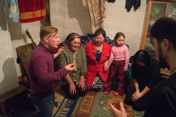 The first lady on the picture (from the left to right) hes just given her life to Jesus. Photo taken in a Siberian village.