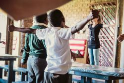 The Meetse A Bophelo Center in Mamelodi, South Africa, has regular worship singing for children.