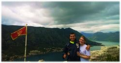 Mateo and Evelyn Roniller (Paraguay) visit Montenegro on a vision trip.