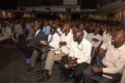 Port-au-Prince, Haiti :: More than 300 pastors gather in the Hope Theatre for a conference on board.