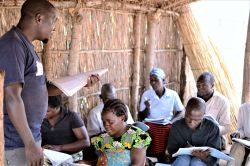 Macdonald, a pastor in Malawi, teaches locals about proper Bible study and exegesis.