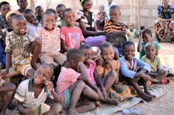 Kids in a church in Kuzungu, Tanzania