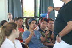 Dan Potter demonstrating to Filipino teens during TeenStreetPH launching last March.