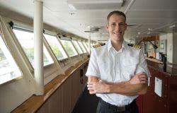 Santo Domingo, Dominican Republic :: Captain Samuel Hils (Germany) on Logos Hopes bridge.