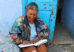 A poor, sick lady was overjoyed by the gift of a Bible  from a ?Love Moldova? outreach team. She immediately started to read and didnt want to give it away again. As outreach teams visited the old, the poor and the abandoned, they often found that Bibles and prayer were the most appreciated gifts.