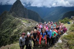 Forty women climbed Machu Picchu to raise awareness about human trafficking during a five-day Freedom Challenge trek in Peru.