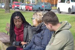 Riverboat community members making friends with the least-reached in Germany.