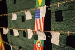 At Transform 2018 a heart made of wood and twine with the flags of countries all over the globe waited for prayers to be hung.  Where is God asking you to pray for?