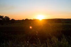 Sunset in a Tanzanian village.